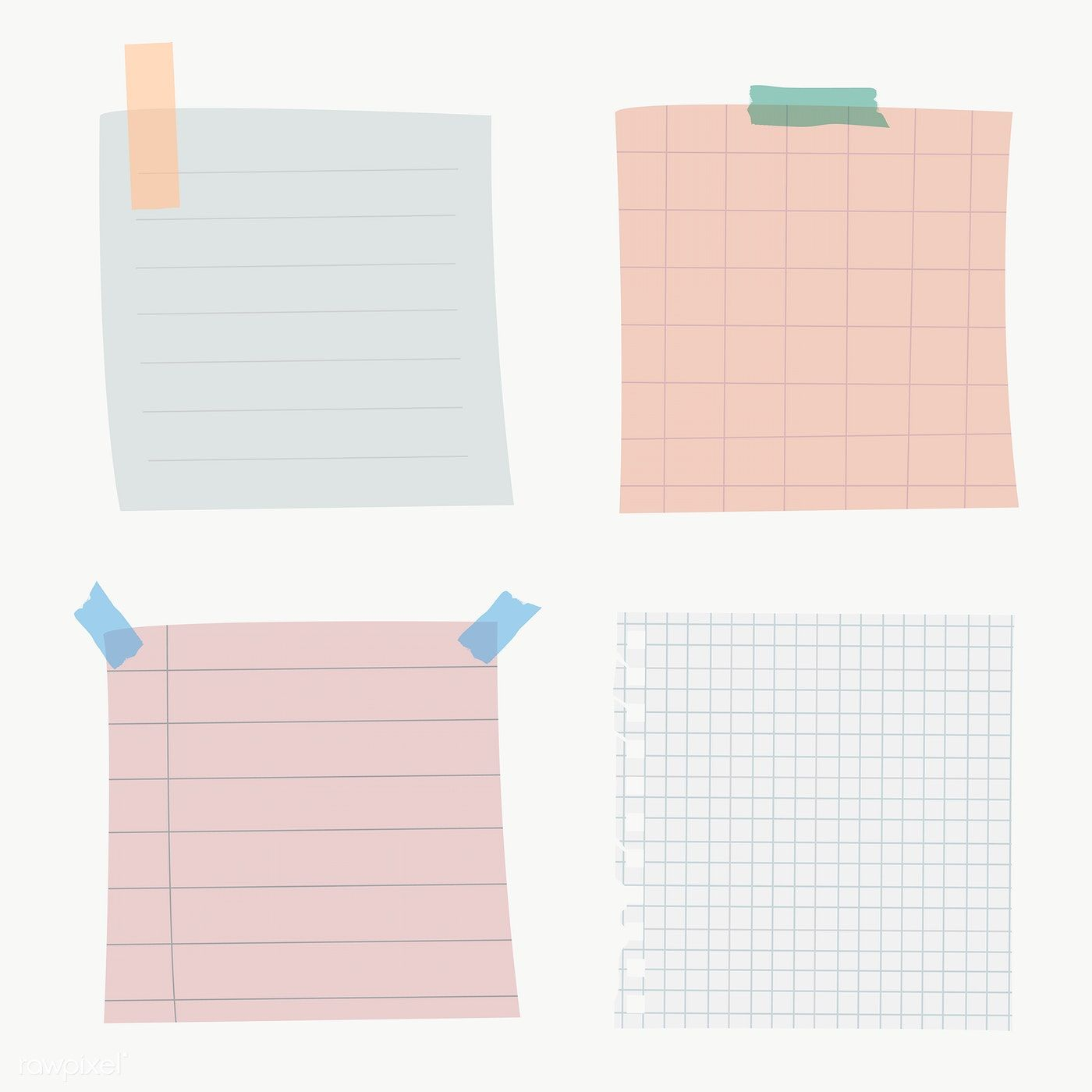 Set Of Notepaper On Transparent Premium Image By Rawpixel Com Chayanit Note Paper Writing Paper Template Memo Paper
