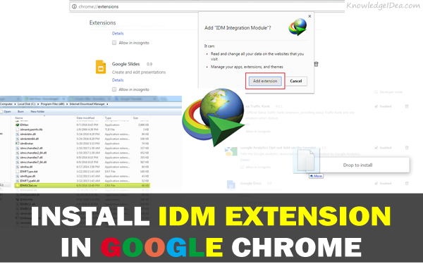 How to install IDM extension in Google chrome  Learn to add internet