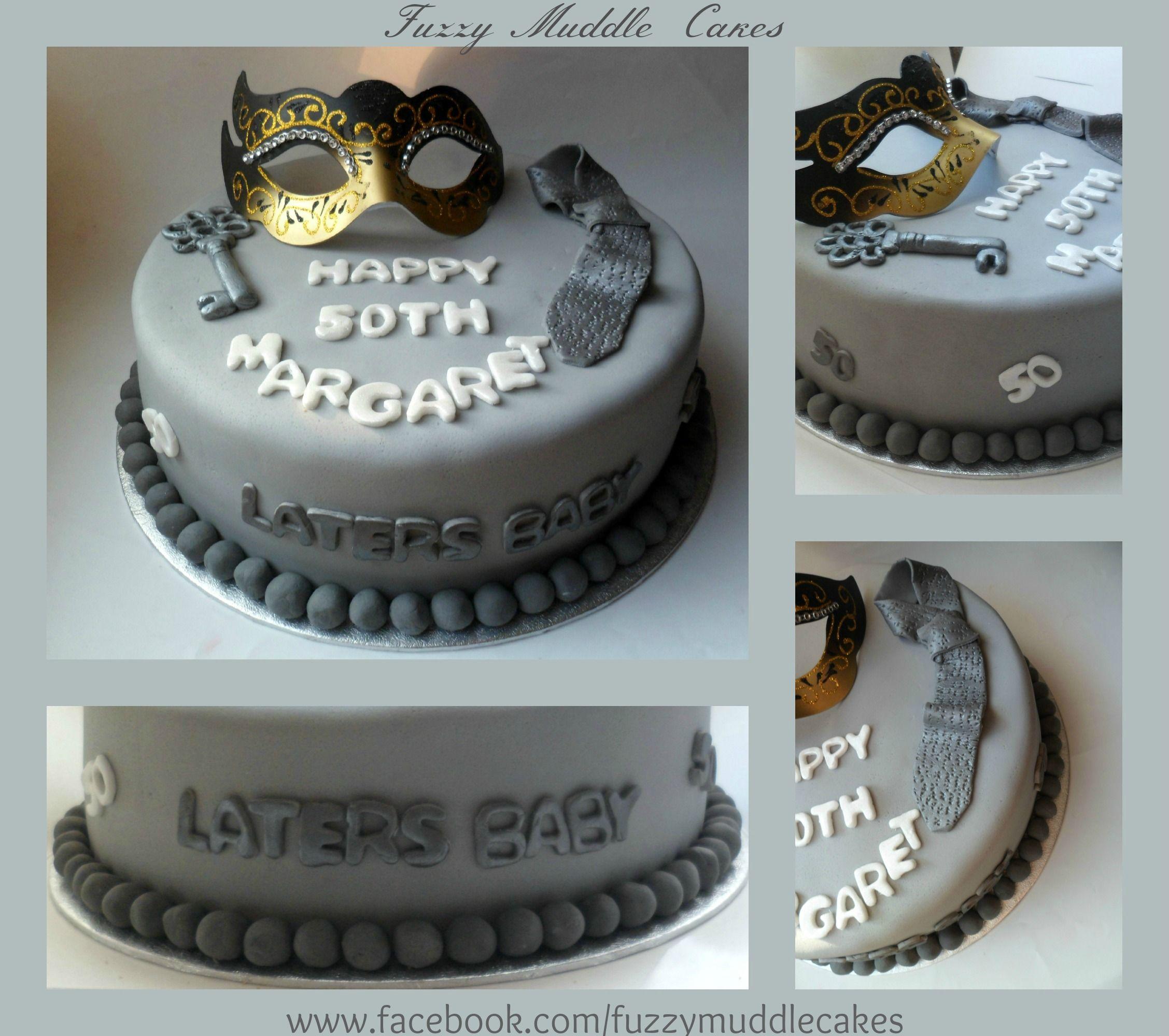 50 Shades Of Grey Decorations Fifty Shades Of Grey Birthday Cake Cake Ideas Pinterest