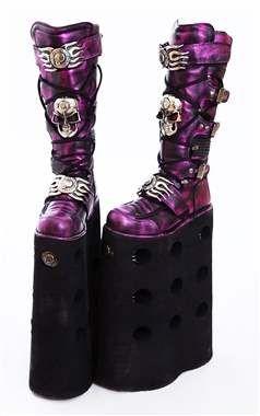 6f3d20eab09 Amazing Rare 40cm New Rock Gothic Platform Boots - M.1064