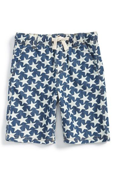 Tucker + Tate Print Denim Shorts (Toddler Boys & Little Boys) available at #Nordstrom