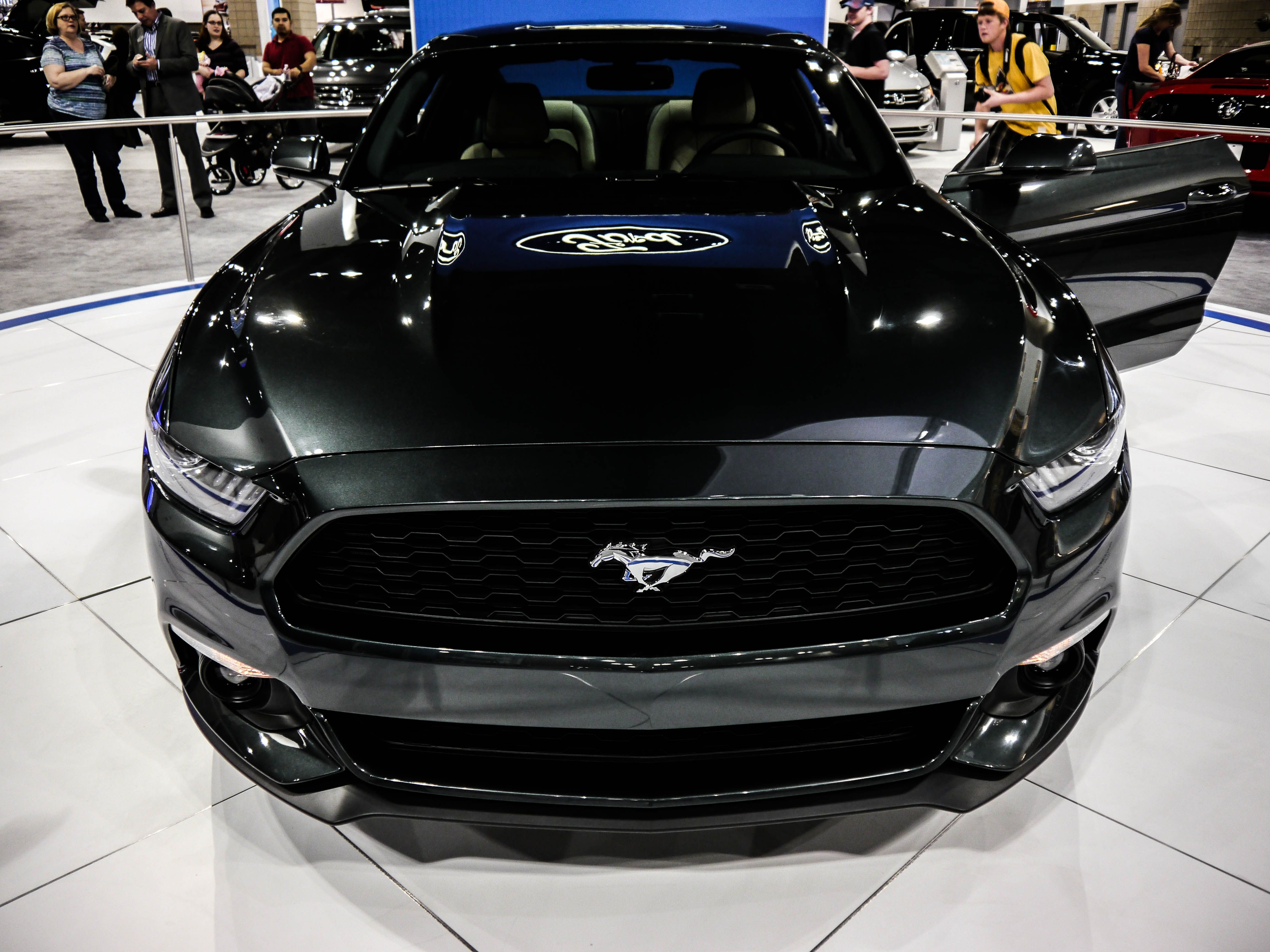 Black 2015 Ford Mustang junk
