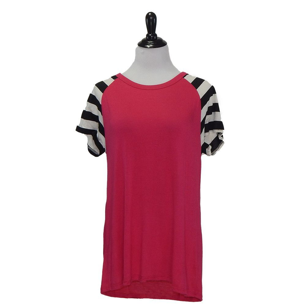 Purely Pink Striped Top