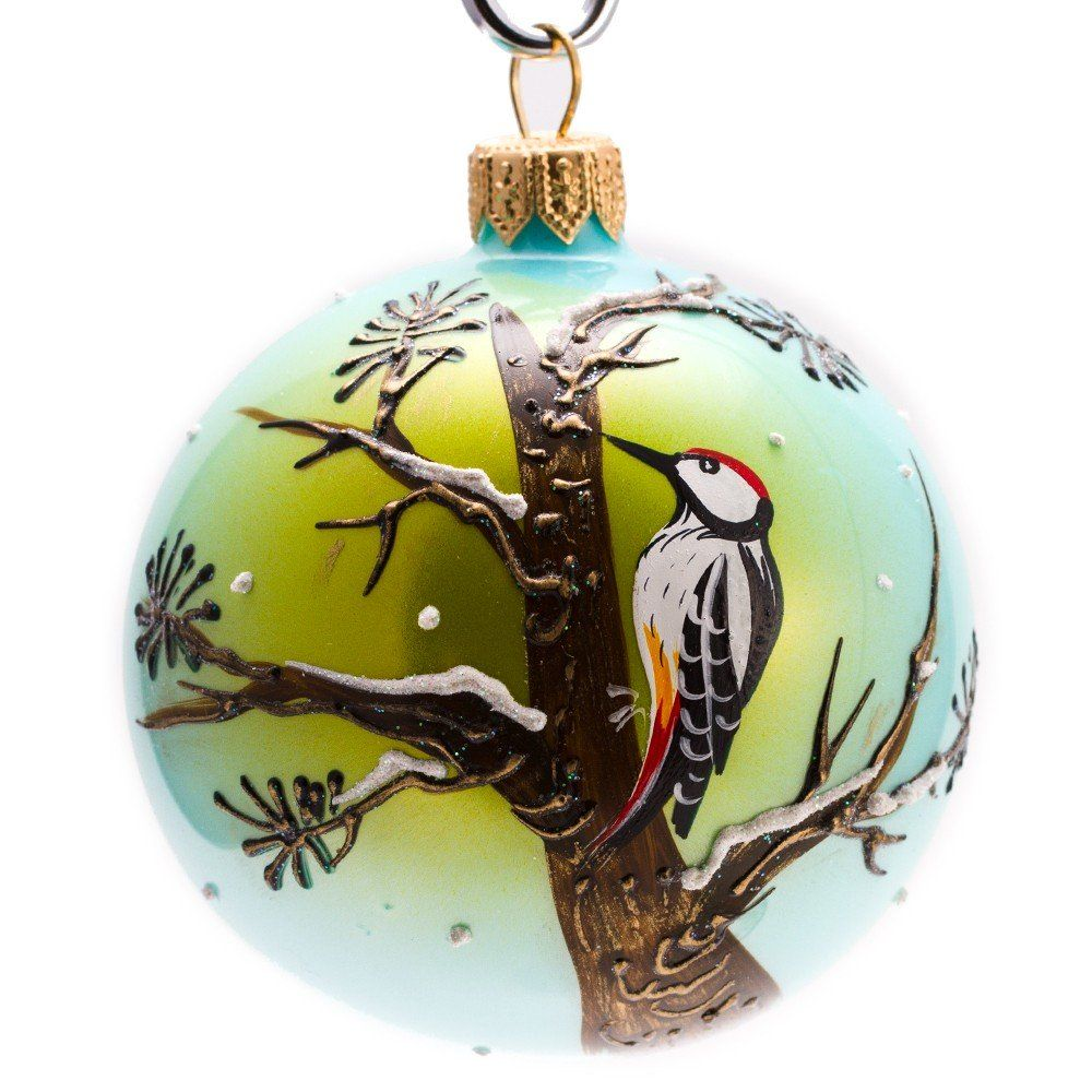 Woodpecker ball christmas ornament woodpeckers and engagement