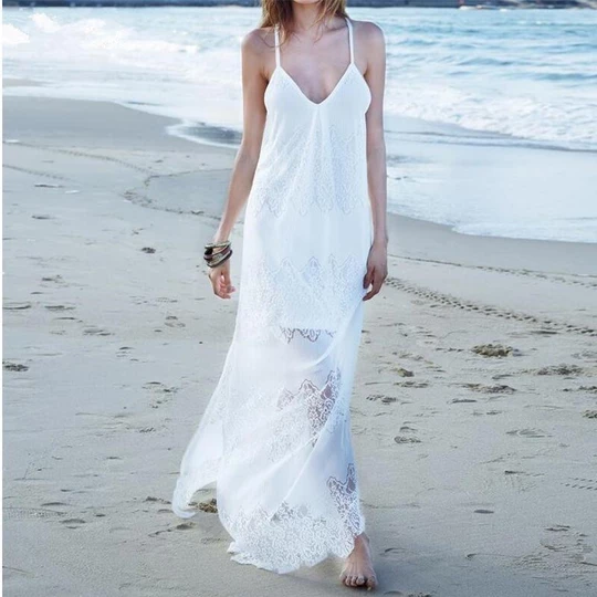 Sexy Lace  Sleeveless Casual Dress 1
