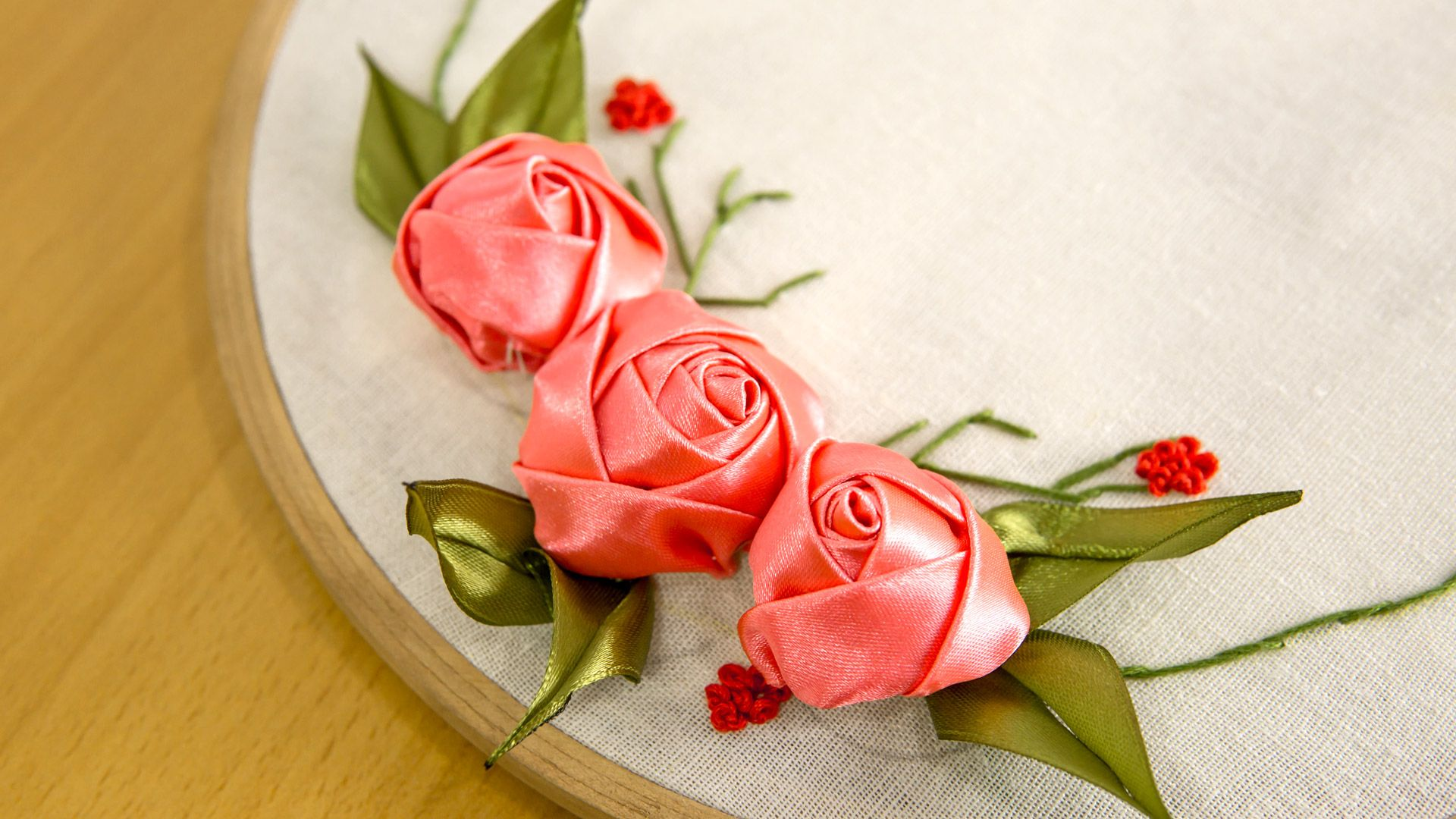 Stitch this ribbon roses embroidery flowers yourself itus three