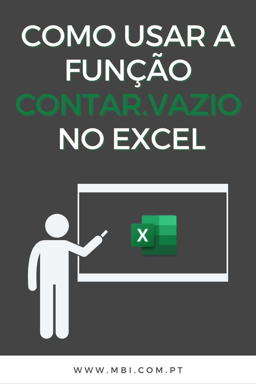 Função do Excel   Contar.Vazio   Aula de excel, Fórmulas excel ...