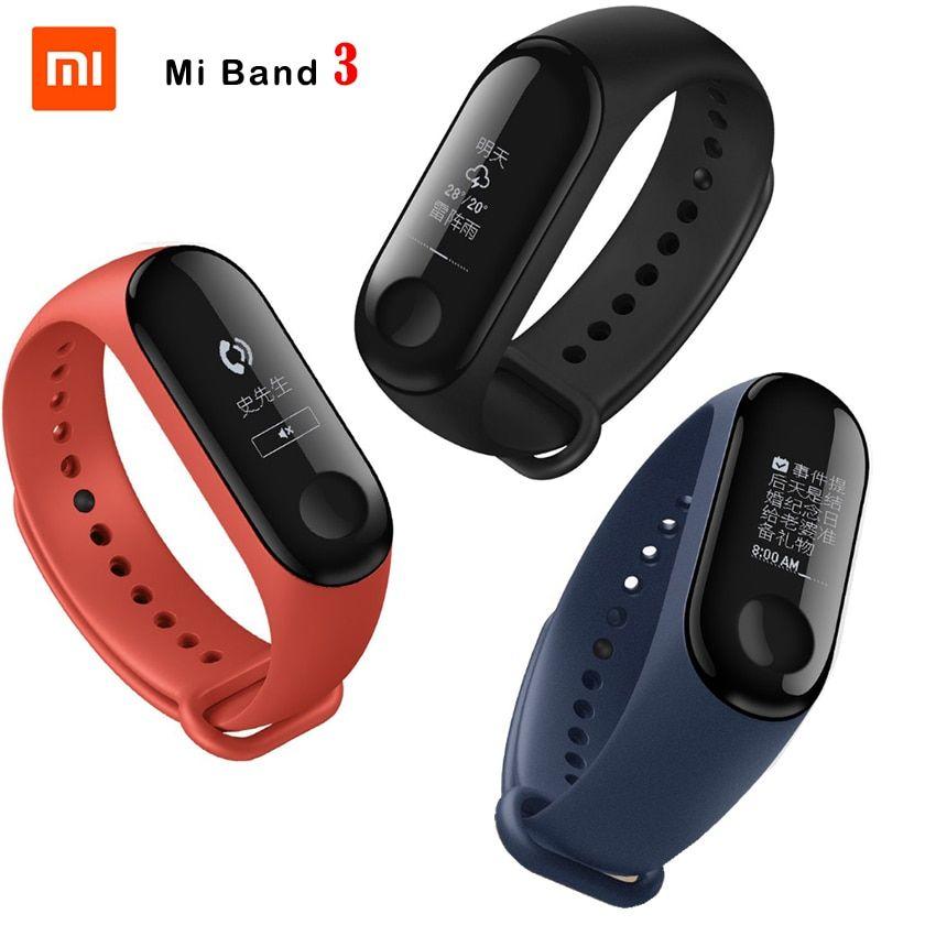 Fitness Bracelet Xiaomi Mi Band 3 Callerid Waterproof Oled Touch Screen Weather Forecast Clock Mi Band 3 Original Wristband Smart Band Fitness Bracelet Smart Bracelet