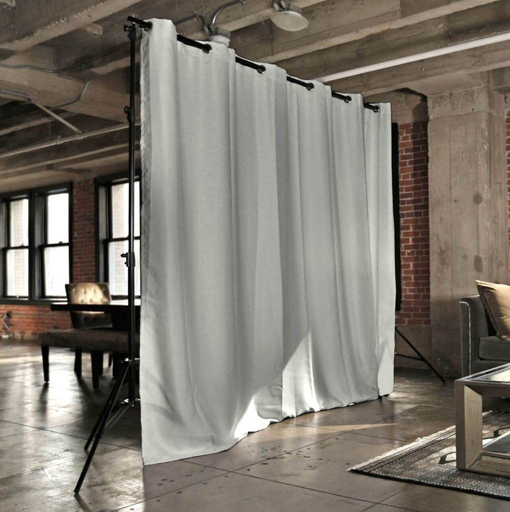 Stone White Freestanding Room Divider Fabric Room Dividers