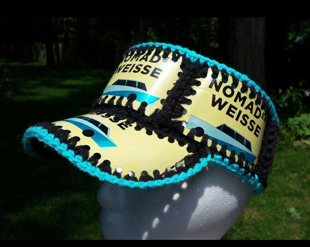 Crochet beer can hat, Fishlips the Mad Hatter on Facebook | Crochet ...