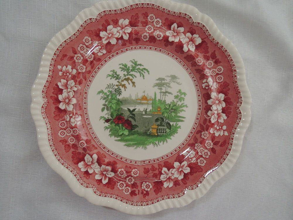 """Spode Pink Tower """"Special Edition"""" Dinner Plates Very Rare #Spode"""