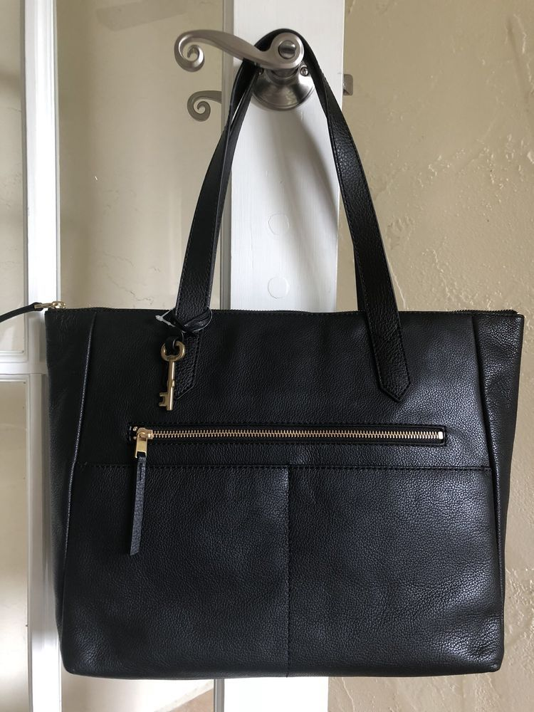Fossil Fiona EW Tote ZB7484 Black Leather  330707c210c69