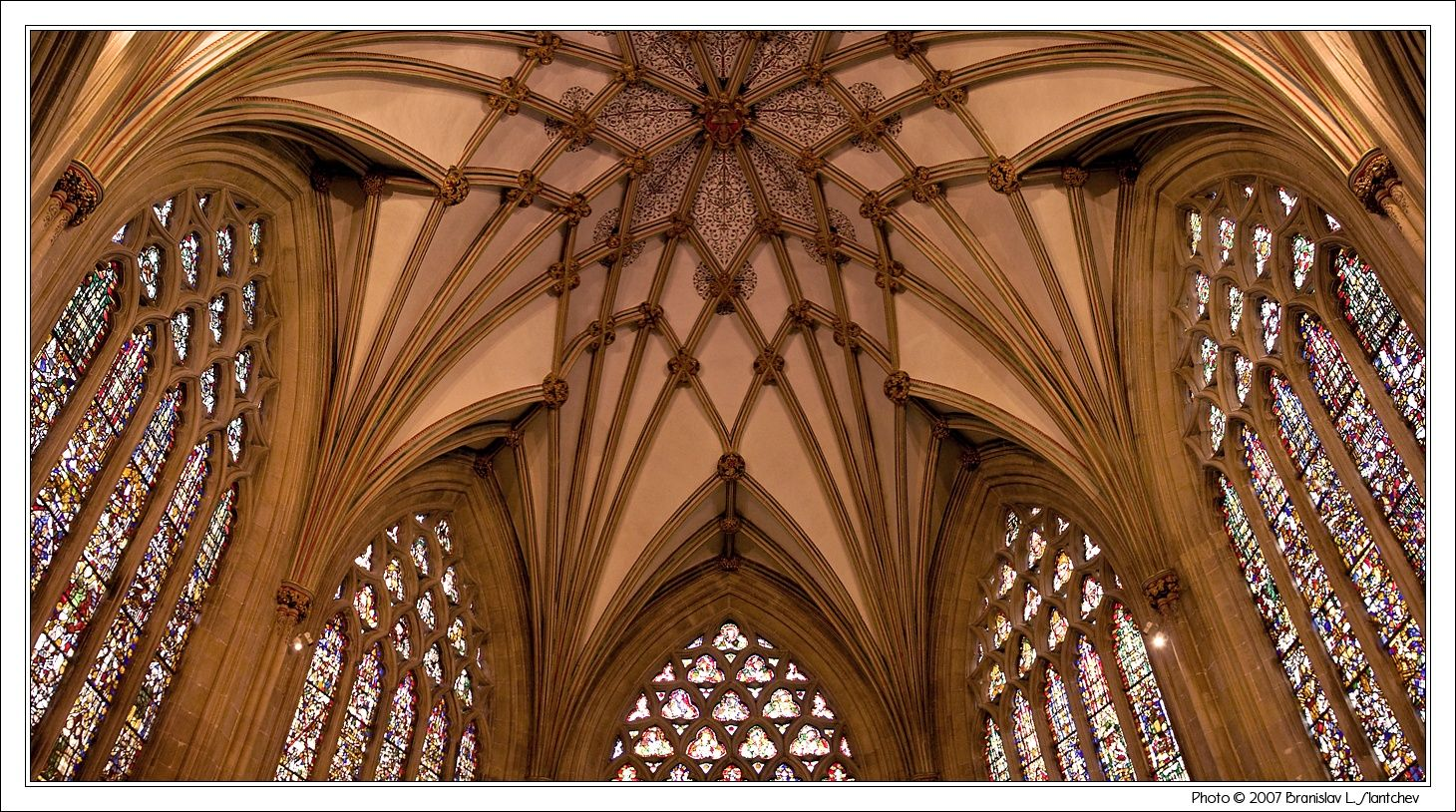 Englan,: Wells Cathedral: The Star Vault of the Lady Chapel