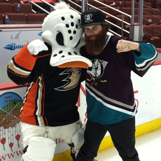 Skating at Honda Center with Anaheim Ducks mascot Wild ...