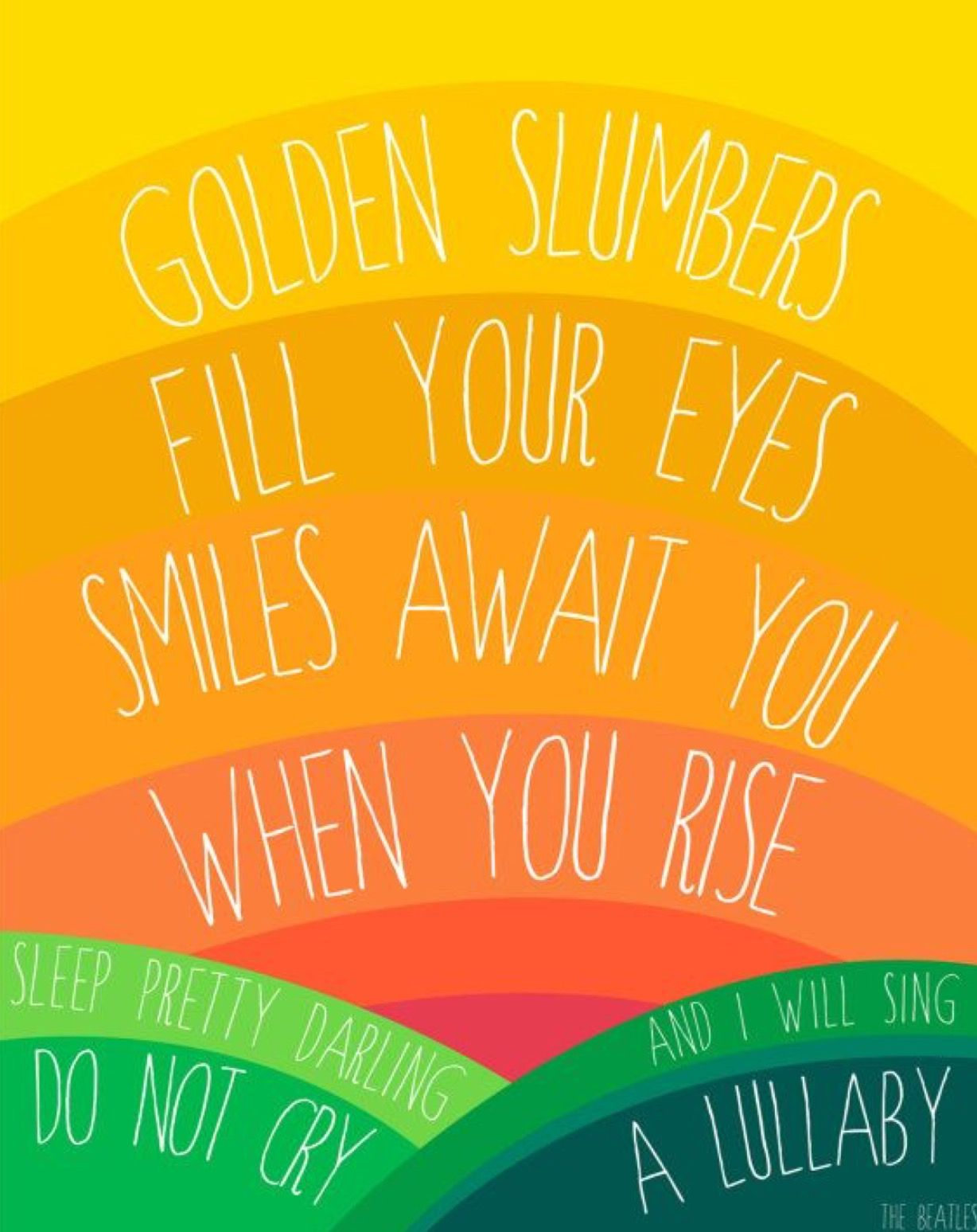 Golden Slumbers | The Beatles #babysonglyrics | quotes | Pinterest ...