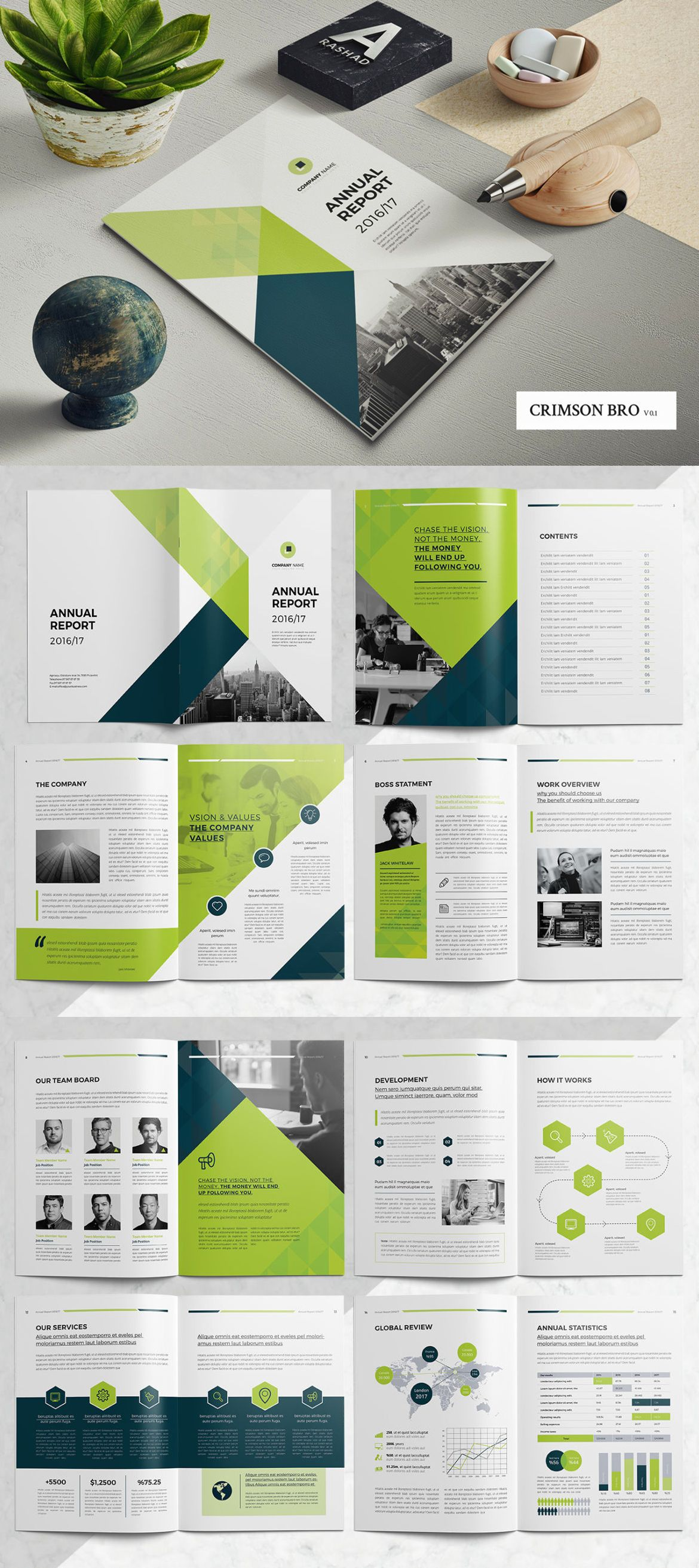 annual report template indd katalog pinterest professionals