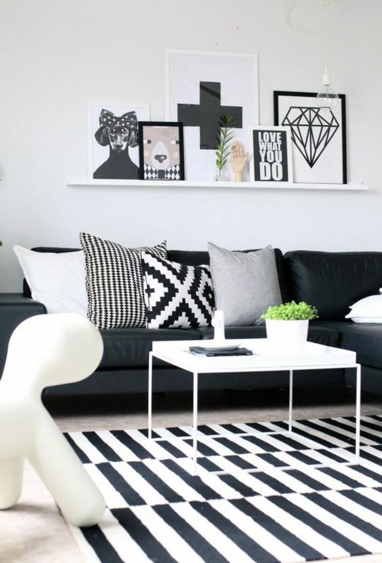 7 Außergewöhnliche Dekorationsideen für das Wohnzimmer Schwarz
