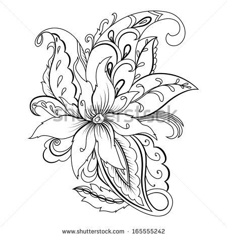 Stock Images similar to ID 190040318 - paisley background. hand ...