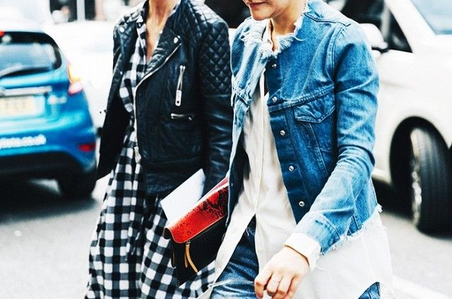 Day 10: DIY an old jean jacket to achieve this frayed-edge look. #WWWWinter30