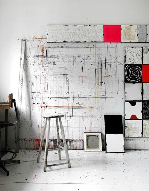 Interiors · Cool Studio. Art SpacesStudio SpacesArt RoomsPaint WallsArtist  StudiosWorkspacesStudio ...