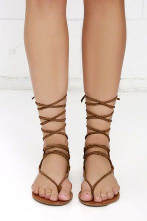 fb80d16821e Steve Madden Walkitt Chestnut Suede Leather Lace-Up Sandals | Into ...
