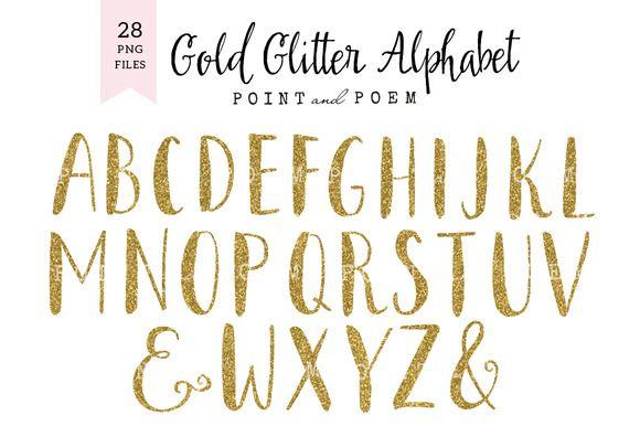 Glitter Alphabet Cliparts Lettering Alphabet Clip Art