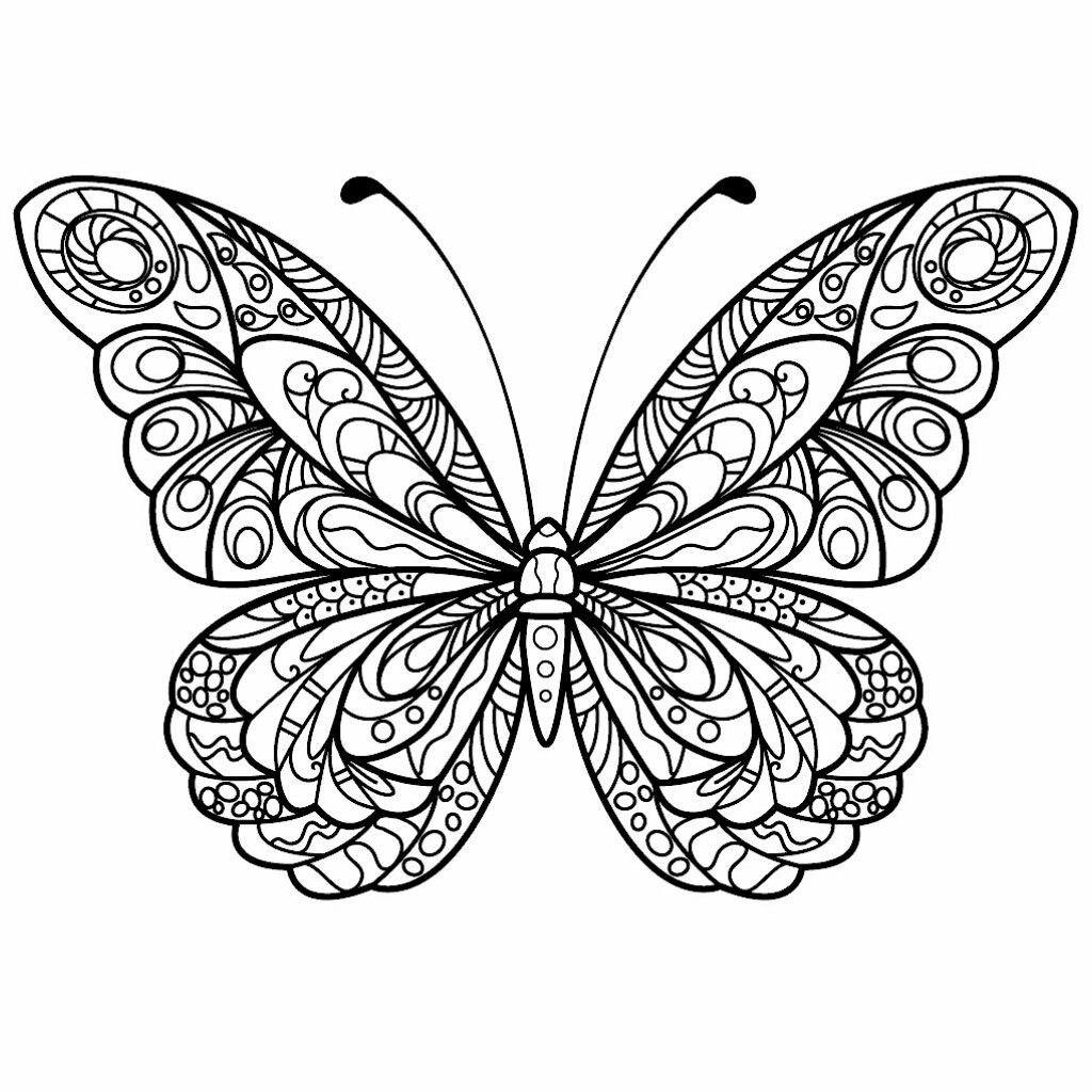 Pin By Susy K On Repujado En Aluminio Butterfly Coloring Page Butterfly Drawing Butterfly Mandala [ 1024 x 1024 Pixel ]