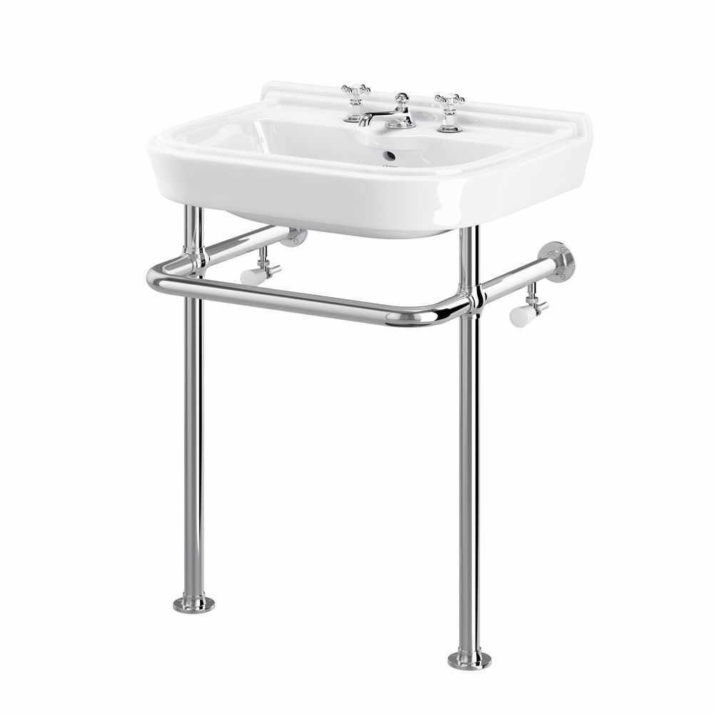 Shanks sink and stand reclaimed porcelain sinks and chrome stands - Kew Heated Basin Stand Basin Stands Cp Hart