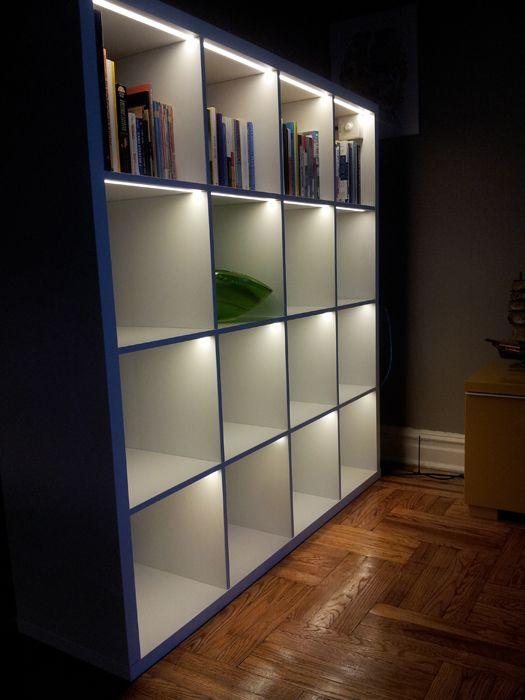 Light up the KALLAX   Around the house   Pinterest   Ikea ...
