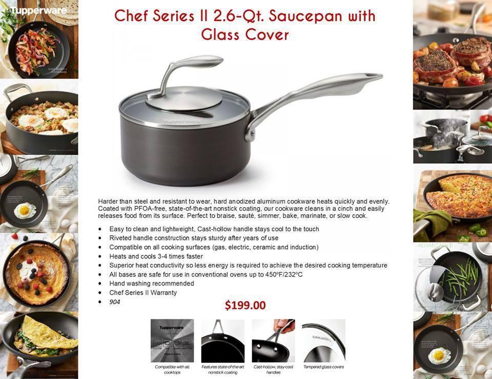 Chef Series II - 2 6 Qt  Saucepan with Glass Cover - PFOA