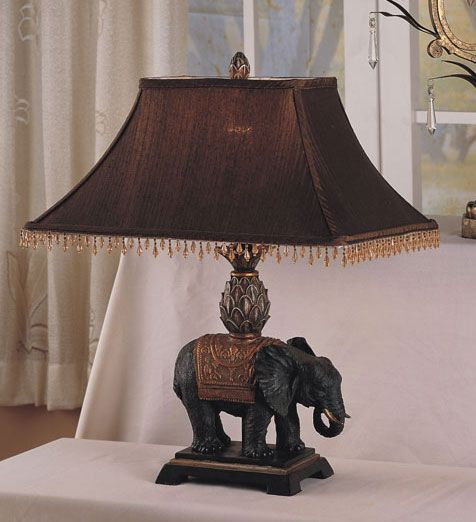 Antique Elephant Style Table Lamp Set Is The Perfect Home Or Office Decor  AccentAntique Look Elephant