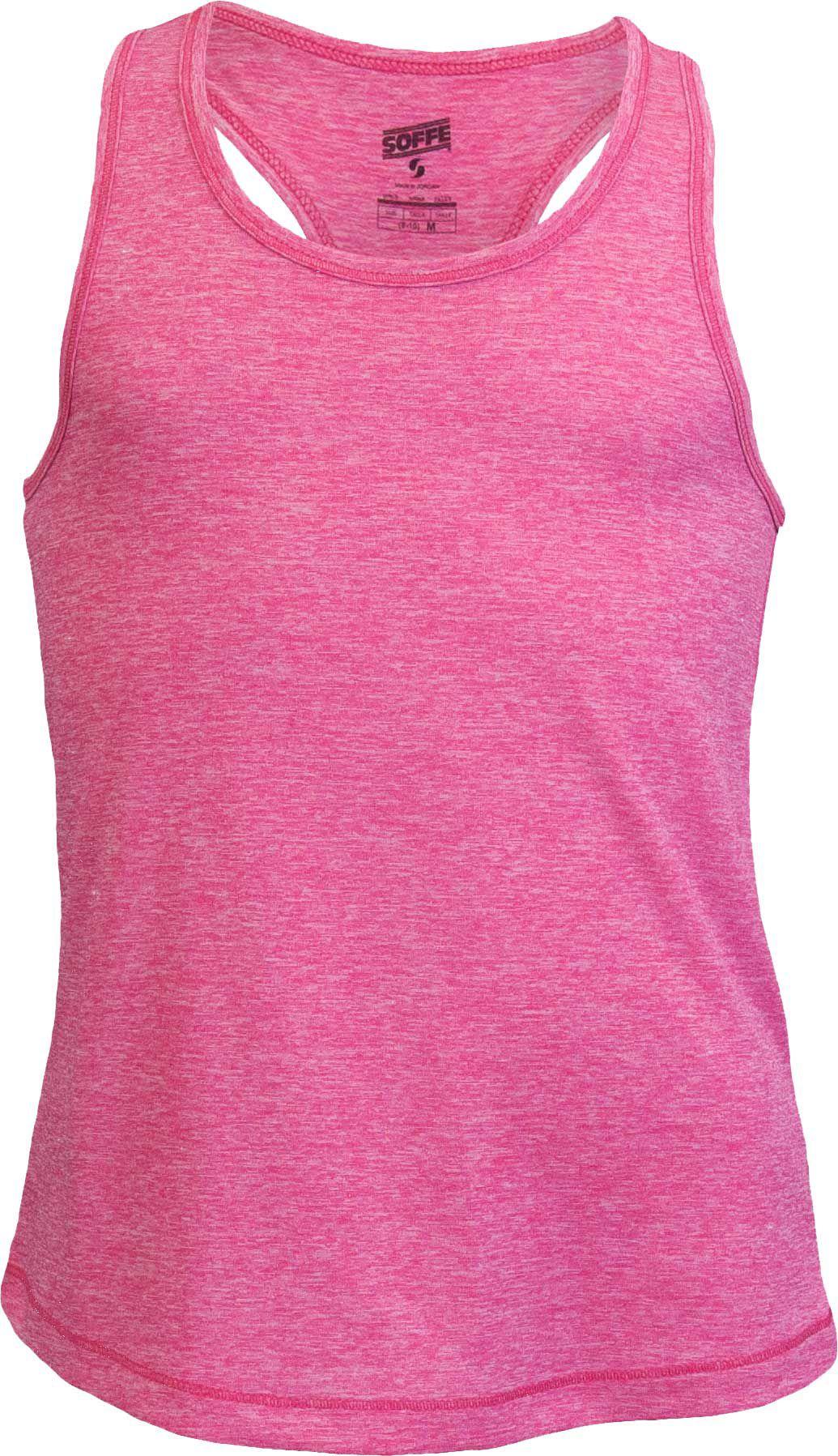 ab33ce71d9a0 Soffe Girls' Performance Racerback Tank Top, Size: Medium, Fuchsia Purple  Heather