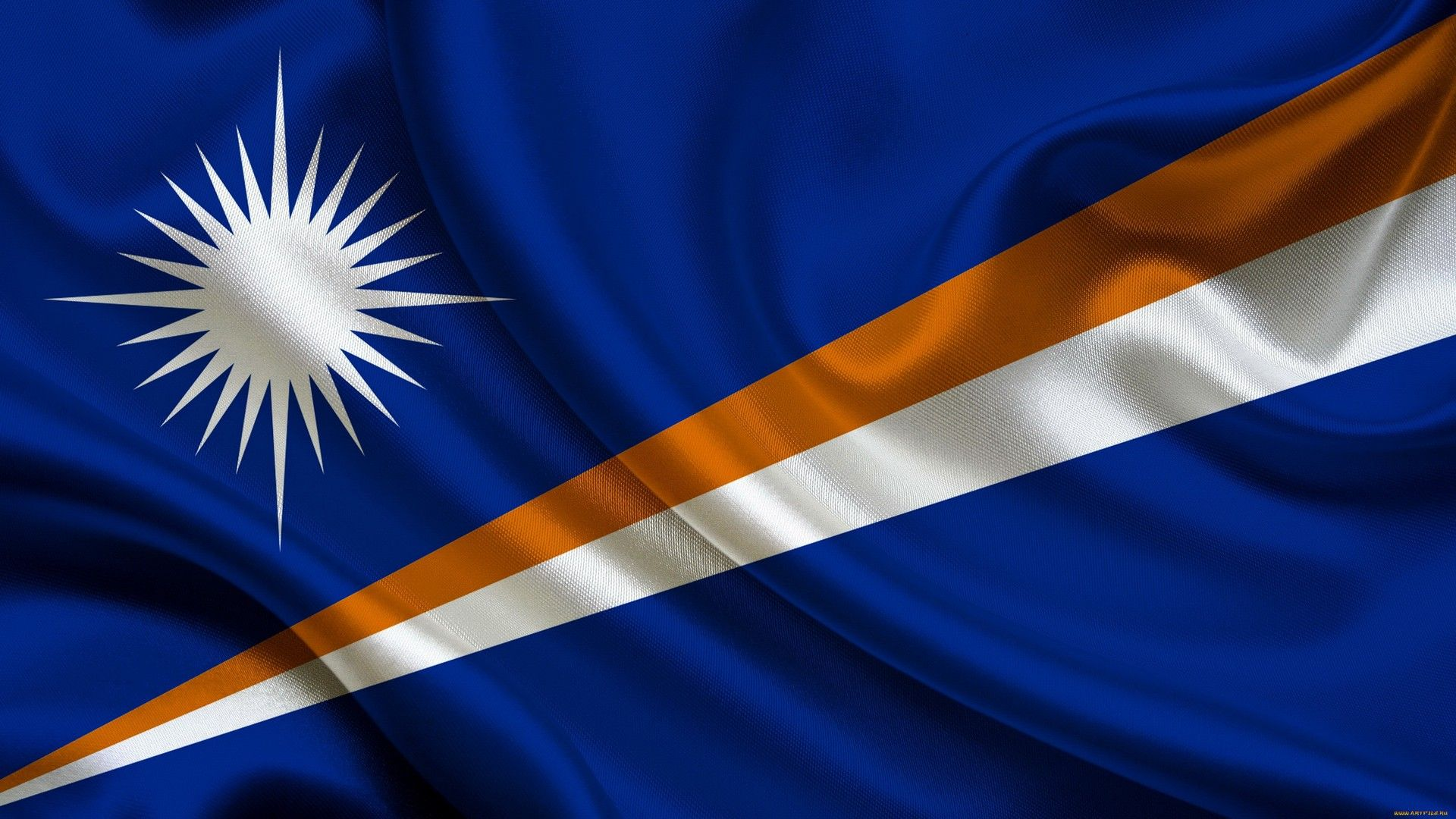 The Flag Of The Marshall Islands Wallpaper Island Wallpaper Wallpaper Island