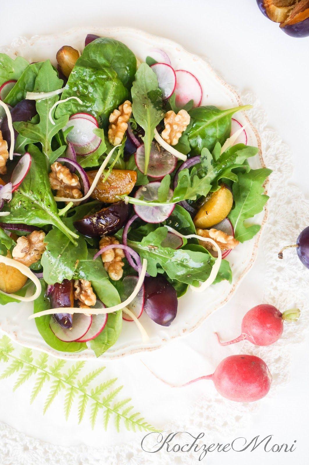 Französische Küche, Salatteller, französischer Salat ...