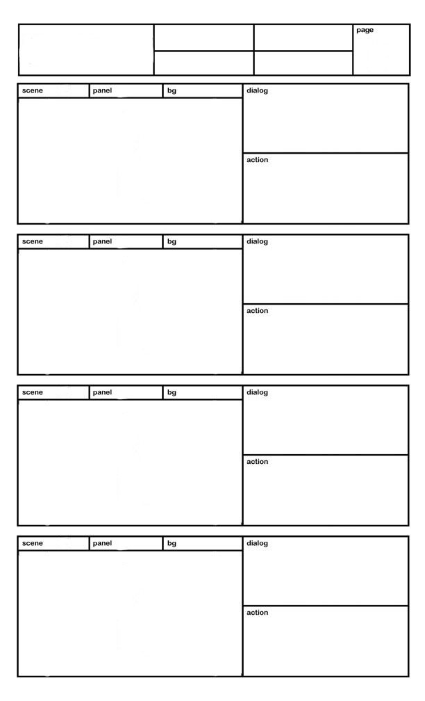 Website Screen Layout Storyboard Template Webpage Storyboard
