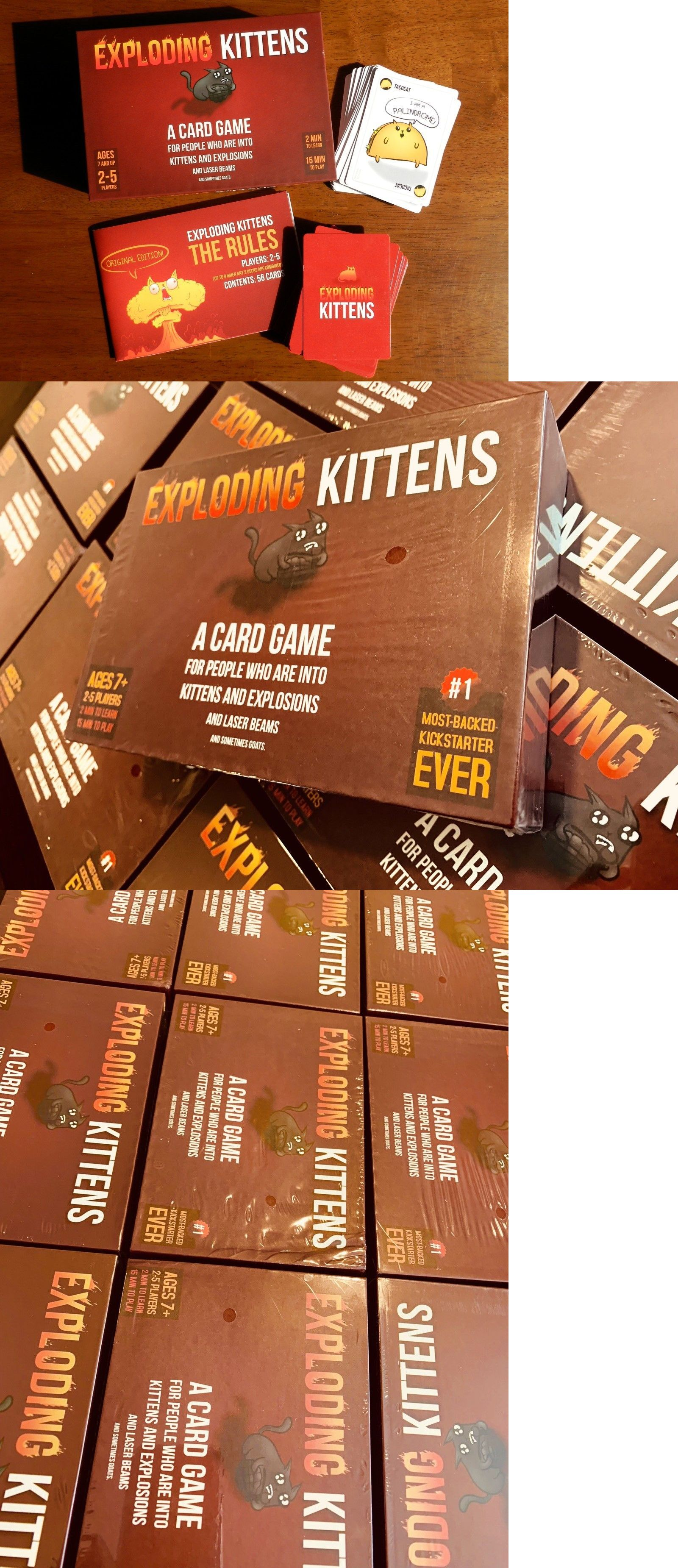 Games 233 Exploding Kittens Card Game Original Edition New In Box