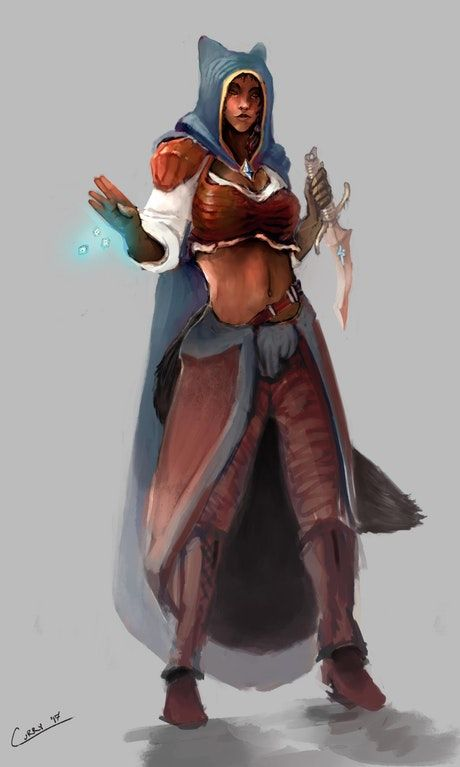 art commission myrra the magician dnd d d character art