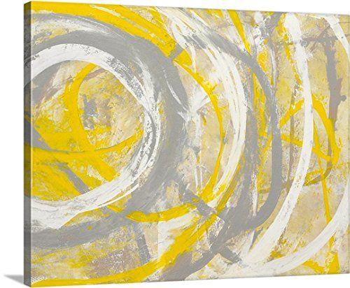 GreatBIGCanvas Erin Ashley Premium Yellow Aura Canvas Wall Art, 20 ...