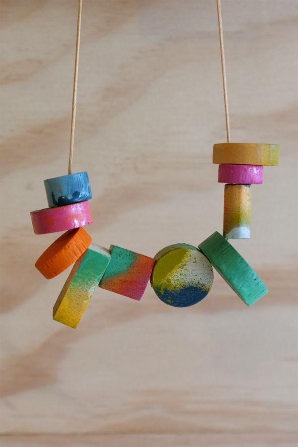 Making Shapes Necklace- Stampel