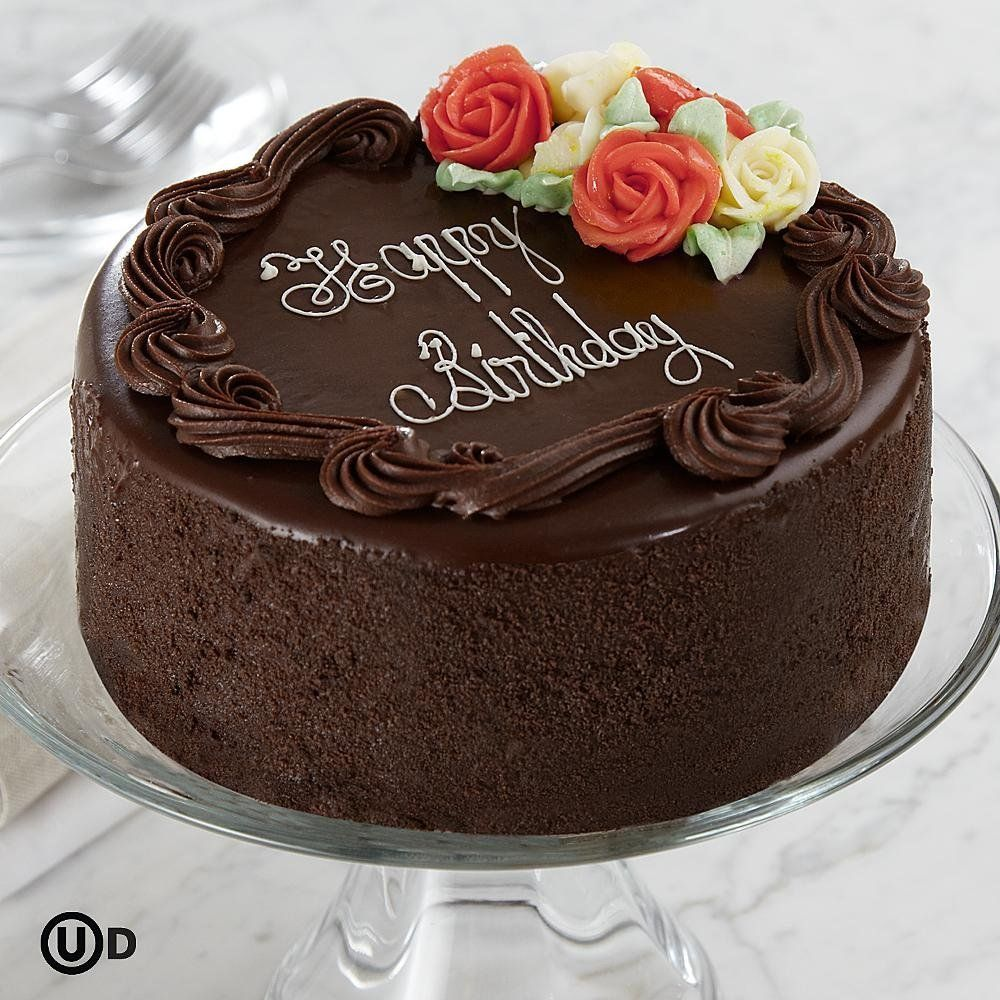 Chocolate Cake Designs For Birthday : women s+chocolate+cake+with+flowers Three Layer ...