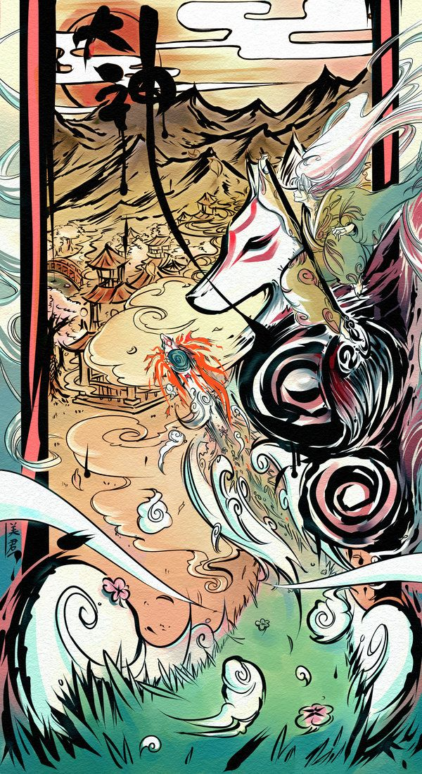 Alive by ~cheetahcub  Amazing #Okami art. Great game that should be played by everyone!