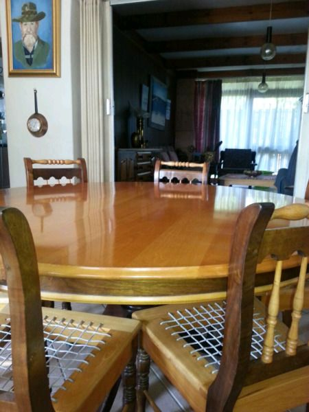 yellow wood  imboya dinning room set  other  gumtree