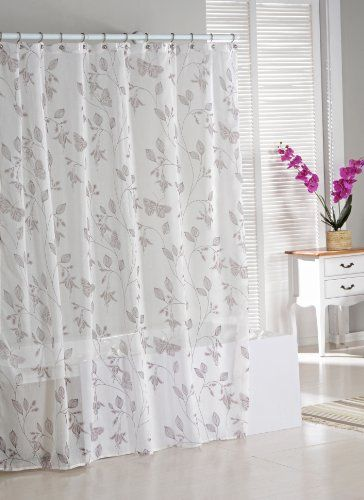 Unique See Through Natural Colored Faux Linen Weave Fabric Shower ...
