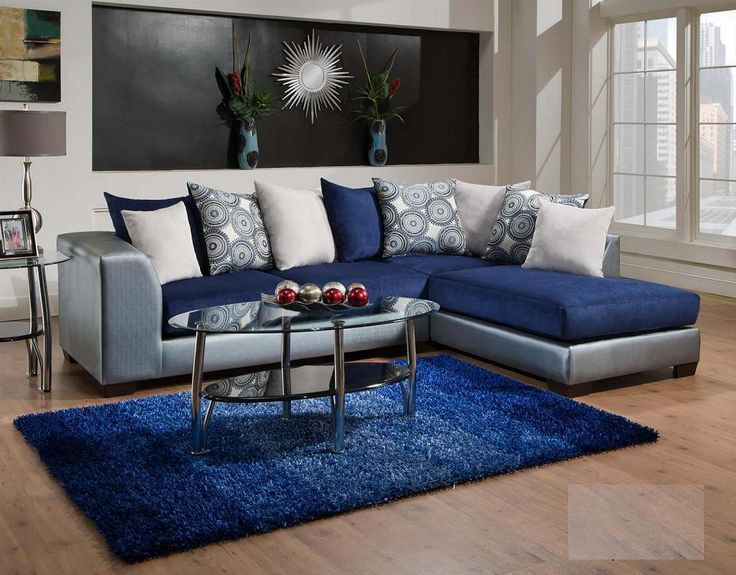 Classy Of Royal Blue Living Room 835 06 Royal Blue Living Room Only 57995 Living  Room