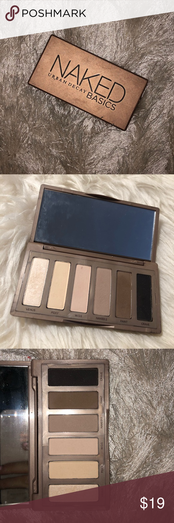 Urban Decay Naked Basics Palette Lightly used eyeshadow palette! Very pretty neutral eyeshadow tones! Good for everyday looks. Urban Decay Makeup Eyeshadow