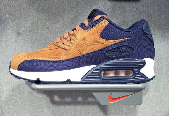 NIKE AIR MAX 90 PREMIUM ALE BROWN MIDNIGHT NAVY 700155 201