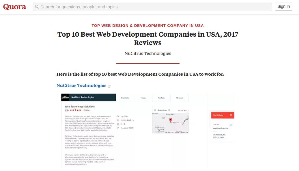 Top 10 Best Web Development Companies In Usa 2017 Reviews Topwebdevelopmentcompaniesusa Webde Web Development Company Web Development Design Web Development