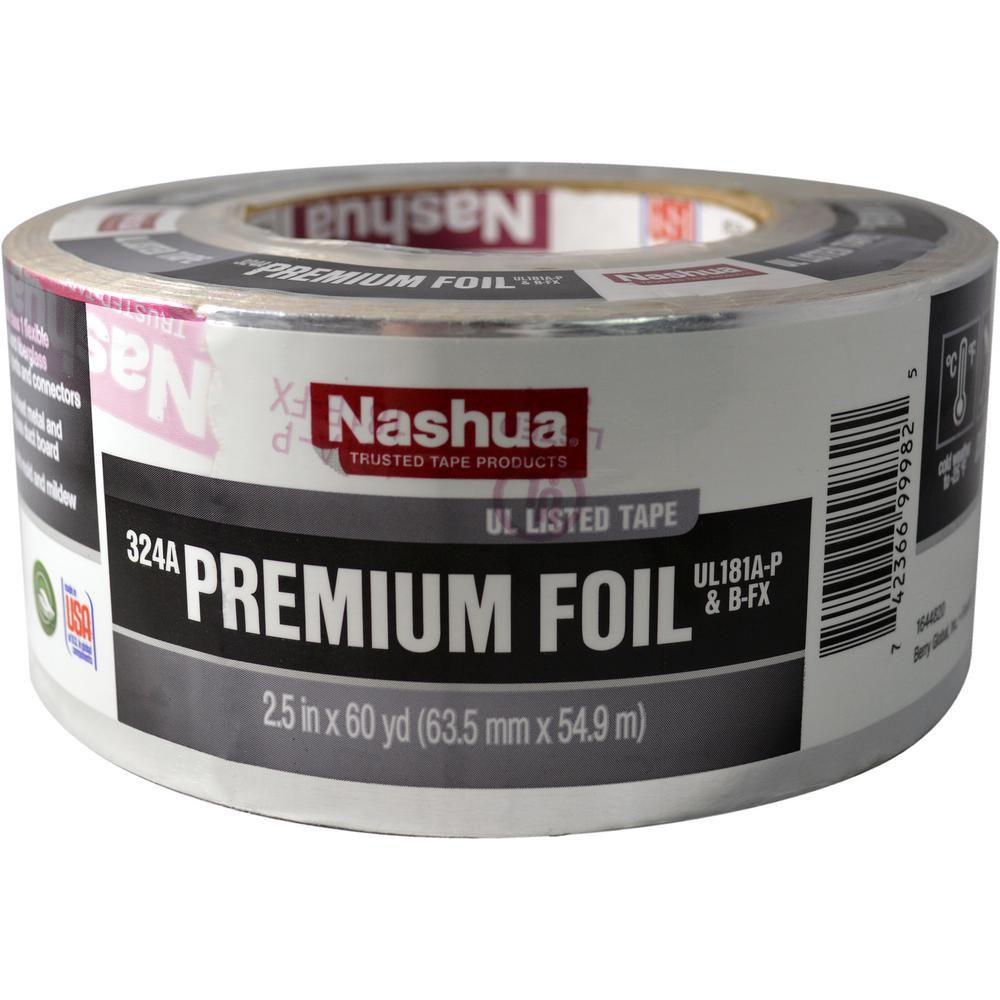 Nashua Tape 2 5 In X 60 Yd 324a Premium Foil Ul Listed Hvac Tape 1207794 The Home Depot Hvac Nashua Tape