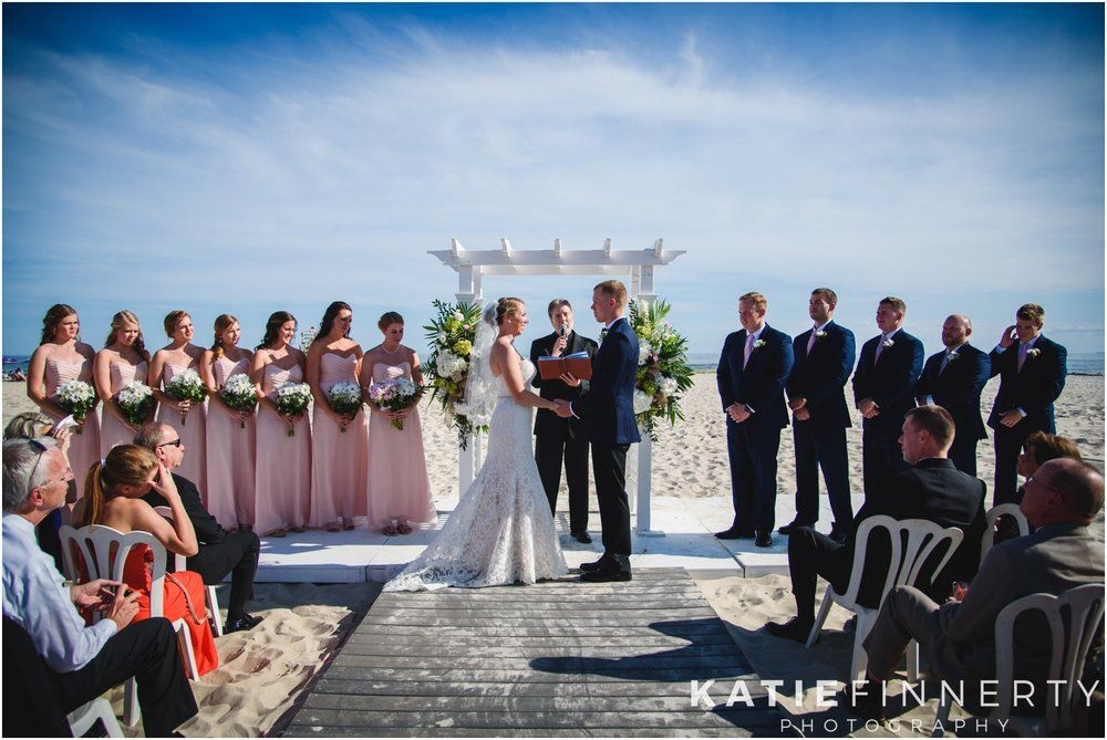 Long Island Beach Wedding Ceremony Photos By Rochester Ny Photographer Katie Finnerty Photography