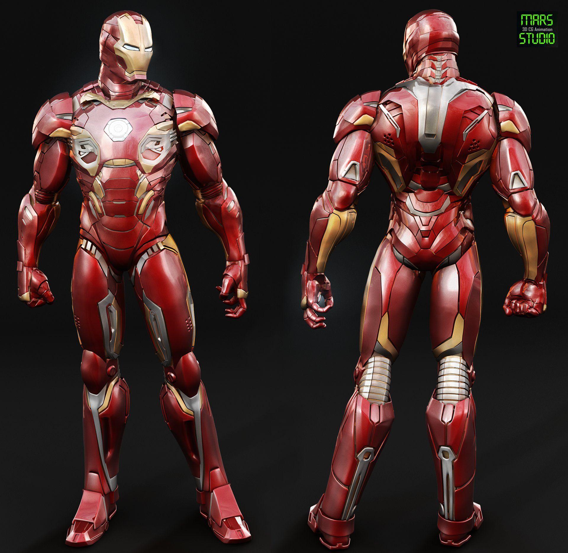 ArtStation - Iron Man : Mark 45 (Avengers age of ultron ...